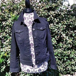 Chico 's  Platinum Denim jacket  black size 0